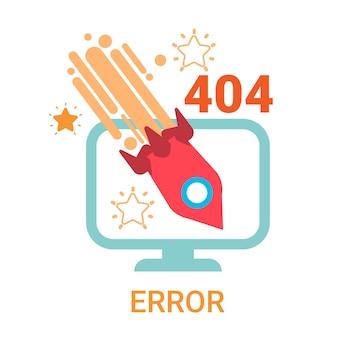 Error icon 404 non trouvé bannière de message cassé