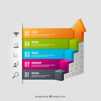 Escalier infographie