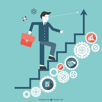 Escalier vers le succès