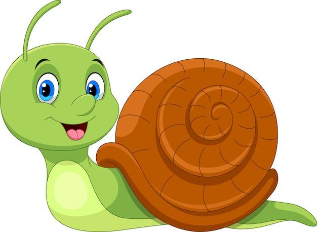 Escargot de dessin animé mignon