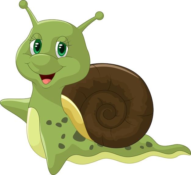 Escargot mignon dessin animé