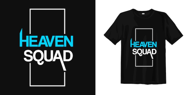 Escouade céleste. t-shirt design mots inspirants