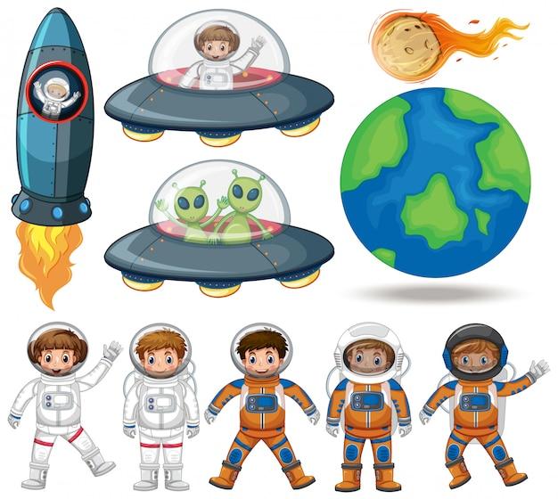 Espace, astronaute et collection ovni