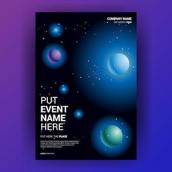 Espace ciel abstrait avec univers planète étoiles de lumière