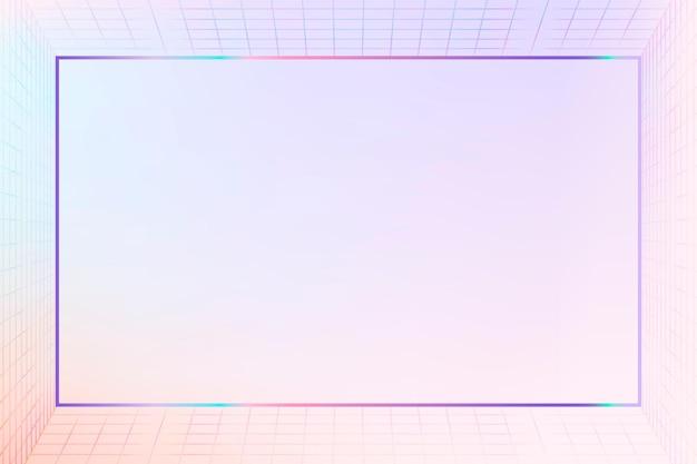 Espace de conception de cadre à motifs de grille pastel 3d