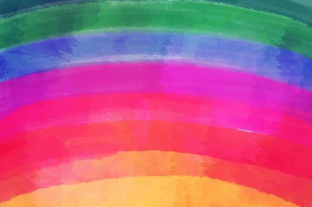 Espace copie aquarelle couleurs arc-en-ciel