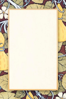Espace de copie de cadre de vecteur de modèle antique floral