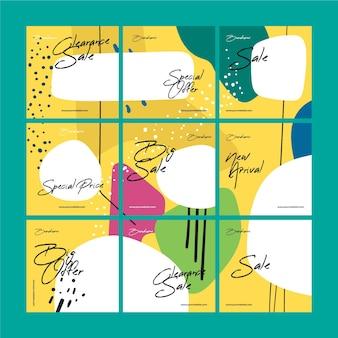 Espace de copie du modèle de flux de puzzle instagram