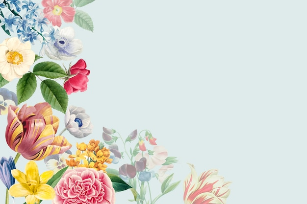 Espace de copie floral vierge