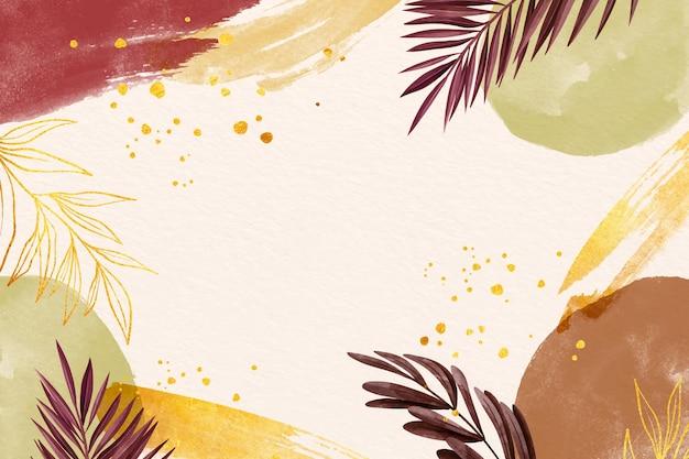 Espace de copie de fond aquarelle feuilles