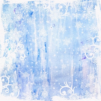 Espace de copie de fond aquarelle hiver