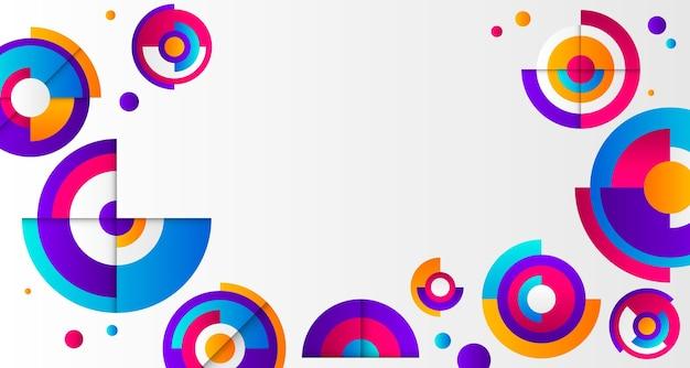 Espace de copie de fond dégradé géométrique circulaire