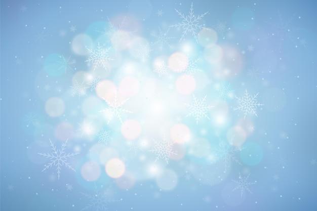 Espace de copie de fond hiver flou