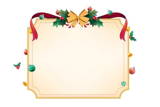 Espace Design Pour La Saison De Noël Vecteur gratuit