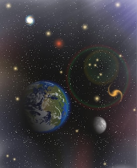 Espace avec des étoiles dans l'univers