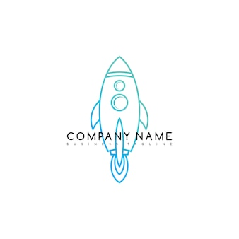 Espace fusée navette marque logo modèle logo vector art