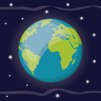 Espace planète solaire du système solaire