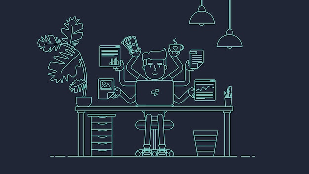 Espace de travail créatif