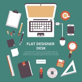 Espace de travail de designer