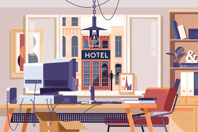 Espace de travail du bureau à domicile