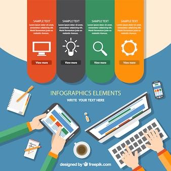 Espace de travail infographique