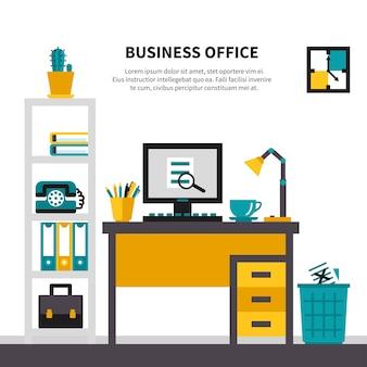 Espace de travail professionnel à l'intérieur du bureau