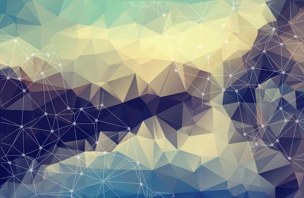 Espace vectoriel abstrait fond pastel.