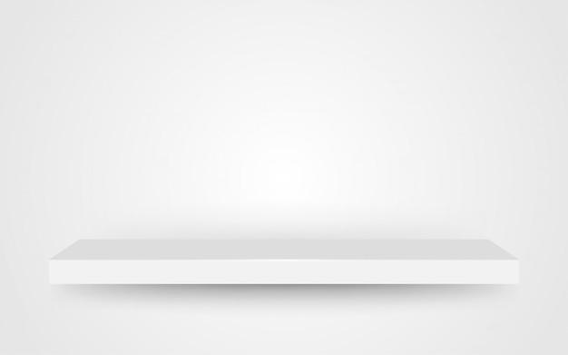 Espace vide sur fond blanc gris étagère