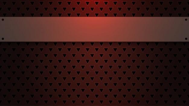 Espace vide sur fond triangulaire