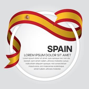 Espagne ruban drapeau vector illustration sur fond blanc
