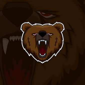 Esport gamer logo bear
