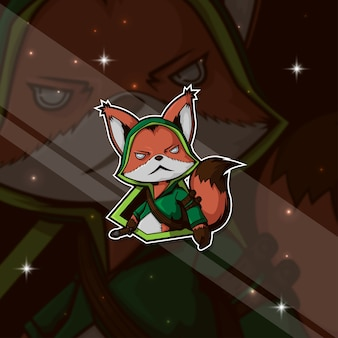 Esport logo gamer fox