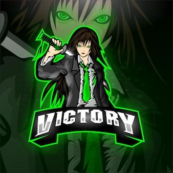 Esport samurai logo victoire équipe