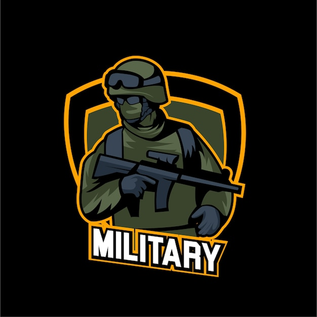 Esports gaming army logo équipe militaire