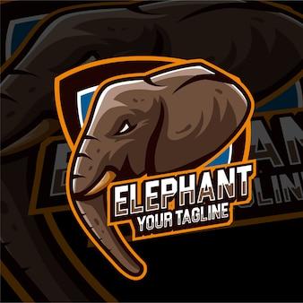 Esports gaming logo éléphant animaux