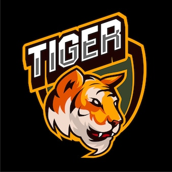 Esports gaming tiger logo animaux