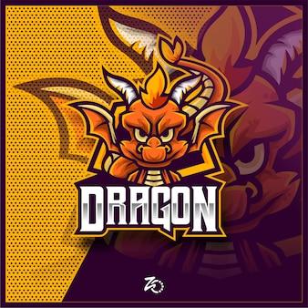 Esports De Jeu De Bébé Dragon Mignon Vecteur Premium