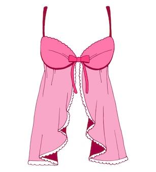 Esquisse de la lingerie. chemise de nuit sexy. illustration vectorielle d'un style de croquis.