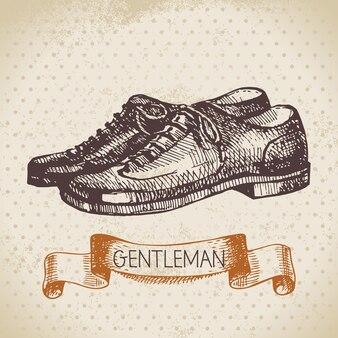 Esquisse messieurs accessoire. illustration d'hommes dessinés à la main