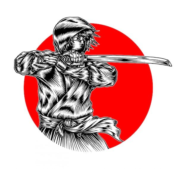 Esquisse ninja mortelle