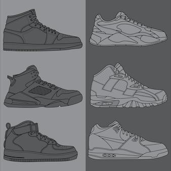Esquisser les chaussures de basket