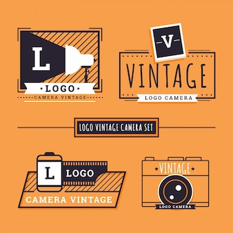 Esquisses caméra rétro logos
