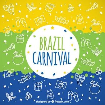 Esquisses éléments de carnaval fond