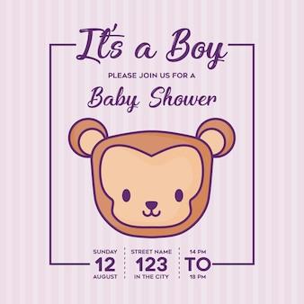 C'est un garçon invitation de douche de bébé