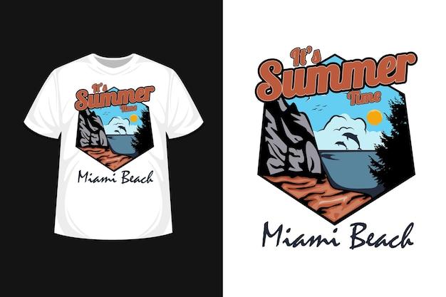 C'est l'heure d'été, conception de t-shirt de plage de miami