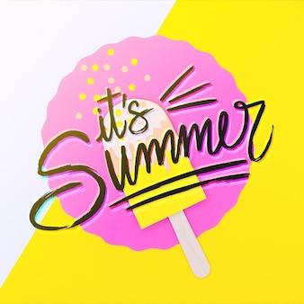 C'est le lettrage de l'été et de la crème glacée