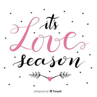 C'est la saison de l'amour