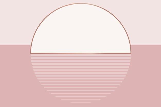 Esthétique de fond de coucher de soleil rose nude