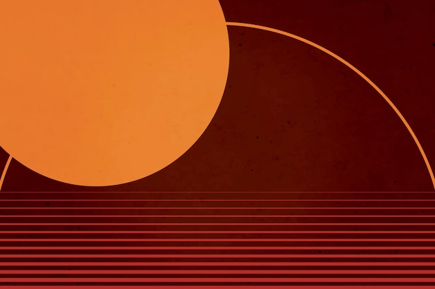 Esthétique minimaliste de fond de cercles avec des couleurs ternes