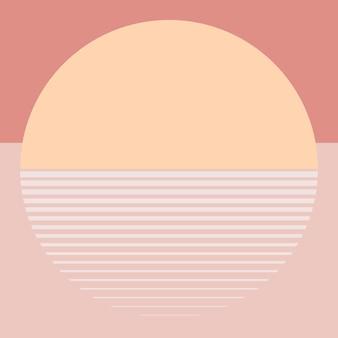 Esthétique de vecteur de fond coucher de soleil orange pastel